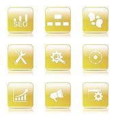 SEO Internet Sign Icon Set — Cтоковый вектор