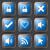 Seo internet tecken Ikonuppsättning — Stockvektor