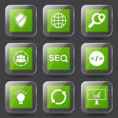 SEO Internet Sign Icon Set — Vettoriale Stock