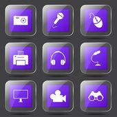 Electronic Equipment Icon Set — Stock Vector