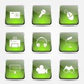 Electronic Equipment Icon Set — 图库矢量图片