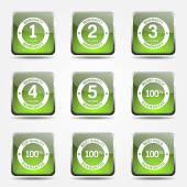 Warranty Guarantee Seal Icon Set — Stock Vector