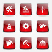 Construction Tools Icon Set — Stock Vector