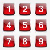 Icon set sayma sayıları — Stok Vektör