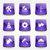 строительные инструменты икона set — Cтоковый вектор