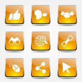 Social Internet Icon Set — Stock Vector