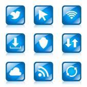 Web Internet Social — Stock Vector
