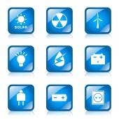 能源的标志和符号图标集 — 图库矢量图片