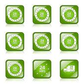 24 ore servizi insieme dell'icona — Vettoriale Stock