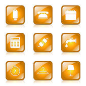 House Equipments Icon Set — Vector de stock