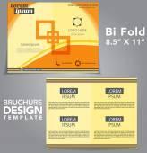 Bi Fold Brochure Vector Design — Stock Vector