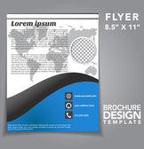Flyer Brochure Vector Design — Stock Vector