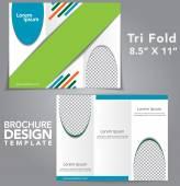 Tri Fold Brochure Vector Design — Stock Vector