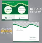 Bi Fold Brochure Design — Stock Vector
