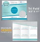 Tri Fold Brochure Design — Stock Vector