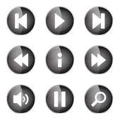 Multimedia controller ikonuppsättning — Stockvektor