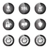 Protection Web Internet Icon Set — Stock Vector
