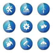 Conjunto de Design de ícones de ferramentas de construção — Vetor de Stock