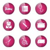 Hospital Health Icon Set — Stockvektor