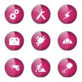 Construction Tools Icon Design Set — Stock Vector