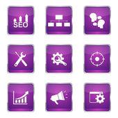 SEO Internet Sign Icon Design Set — Stockvektor