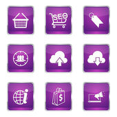 SEO Internet Sign Icon Design Set — Stock Vector