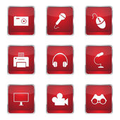 Electronic Equipment Icon Set — Stock Vector