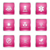 Warning Sign Icon Set — Stock Vector