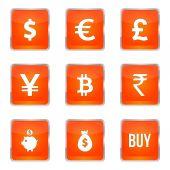 Zestaw ikon znak waluty — Wektor stockowy