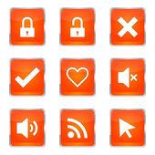 SEO Internet signe Icon Set Design — Vecteur