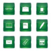 Office Work Icon Set — Stock Vector