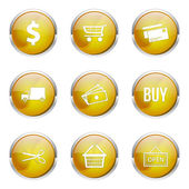 Shopping Sign Icon Set — Stock Vector