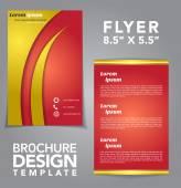Flyer Brochure Vector Design — ストックベクタ