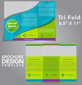 Trilfold Fold Brochure Vector Design — Stock Vector