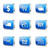 Obchodní značka ikony nastavit — Stock vektor