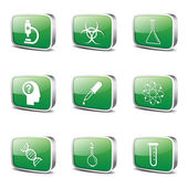 Science Instruments Icon Set — Stock Vector