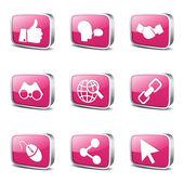 Sociale internet pictogrammenset — Stockvector