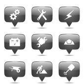 Construction Tool Icon Set — Stock Vector