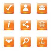 Web Internet Square Icon Set — Vector de stock