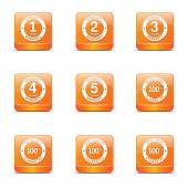 Warranty Guarantee Seal Icon Design Set — Vecteur