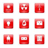 Энергии знак и символ икона set — Cтоковый вектор