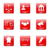 Hukuk işareti Icon set — Stok Vektör