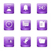 Time Duration Icon Set — Stock Vector