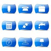 House Equipments Icon Set — Stock Vector