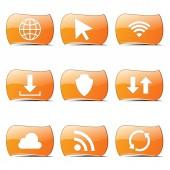 Web Internet Social Icon Set — Stock Vector