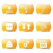 Seo internet znak zestaw ikon — Wektor stockowy