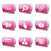 Set di icone di Seo internet segno — Vettoriale Stock