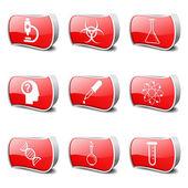 Wetenschap instrumenten pictogrammenset — Stockvector