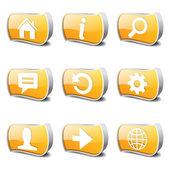 Веб Интернет икона set — Cтоковый вектор