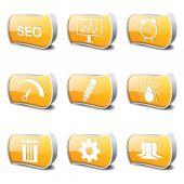 Conjunto de ícones de sinal de internet Seo — Vetor de Stock
